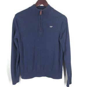 VINEYARD VINES Navy Blue Half-Zip Pullover Sweater